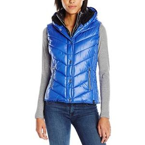 Marc NYC Performance Hooded Puffer Vest XL